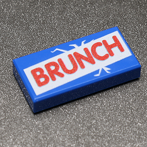 Brunch - Custom Printed LEGO 1x2 Tile