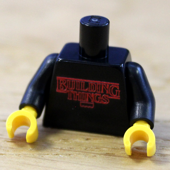 Custom LEGO Building Things Printed Torso