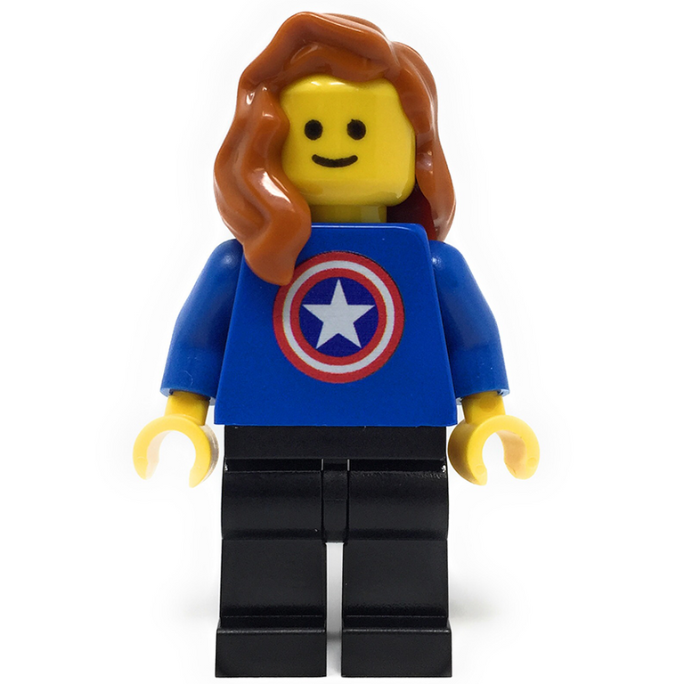 Custom LEGO Captain American Fan (Female)