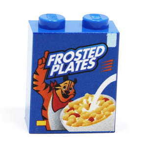 Frosted Plates Cereal - Custom Printed LEGO 1x2x2 Brick
