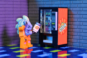 Orange Click - Custom LEGO Soda Vending Machine