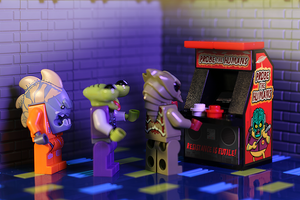 Probe the Humans - Custom LEGO Arcade Machine