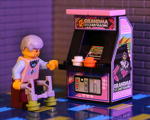 Grandma Cart Racing - Custom LEGO Arcade Machine