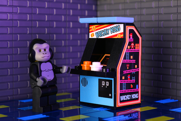 Brickey Kong - Custom LEGO Arcade Machine