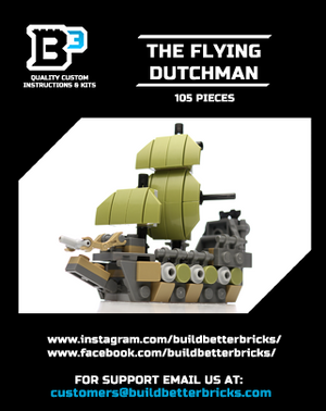 Custom LEGO Mini The Flying Dutchman Pirate Ship