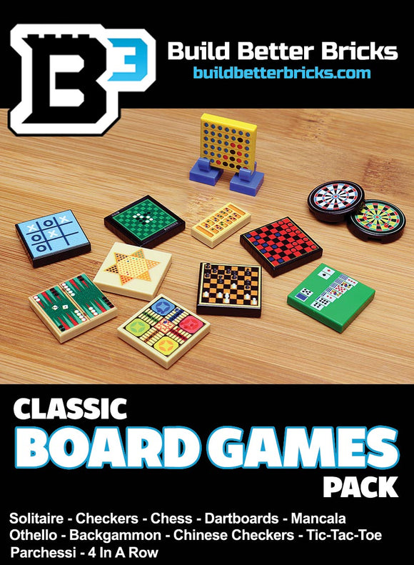 Custom LEGO Classic Board Games Pack
