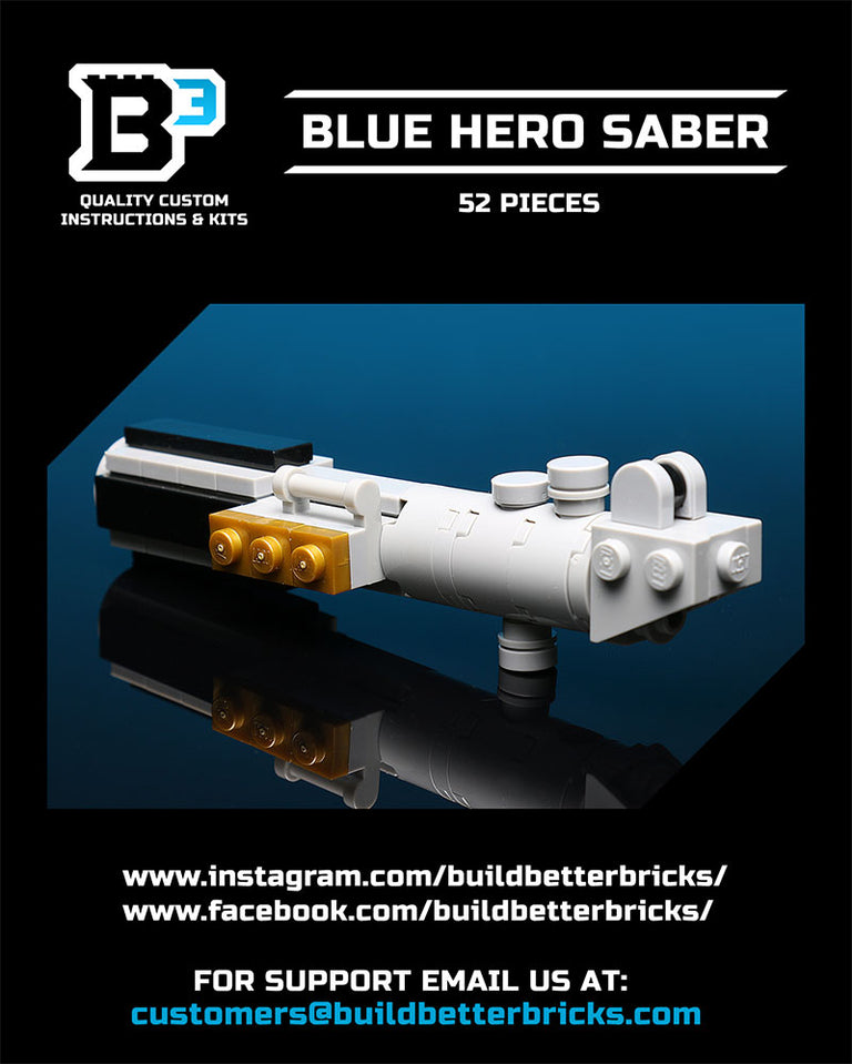 Custom LEGO Blue Hero Lightsaber