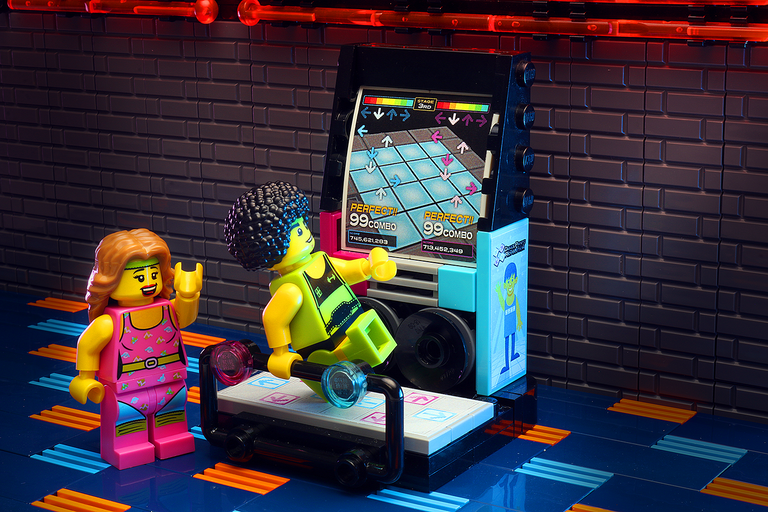 Custom LEGO Arcade Dance Machine