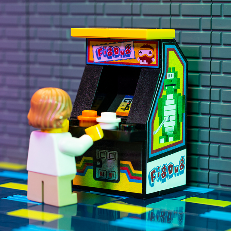 Fig Dug - Custom LEGO Arcade Machine