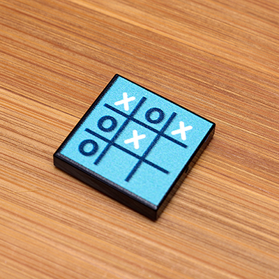 Tic-Tac-Toe - Custom Printed LEGO 2x2 Tile