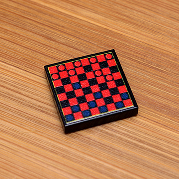 Checkers - Custom Printed LEGO 2x2 Tile