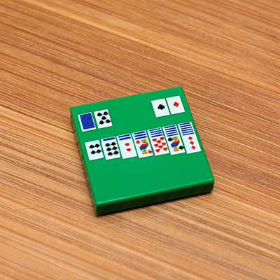 Solitaire - Custom Printed LEGO 2x2 Tile