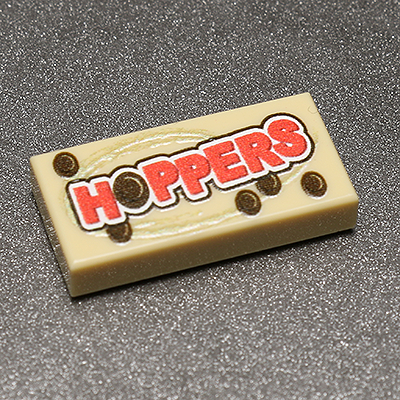 Hoopers - Custom Printed LEGO 1x2 Tile