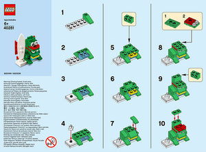 Instructions for LEGO Surfer Dragon (June 2018 LEGO Mini Build)