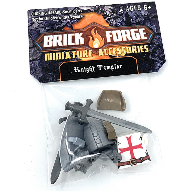 Knight Templar Crusader Minifig Accessory Pack - BrickForge