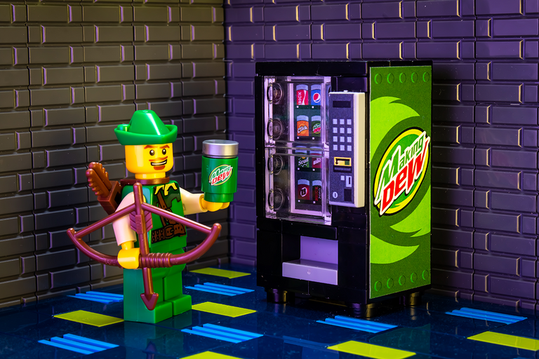 Custom LEGO Making Dew Soda Vending Machine