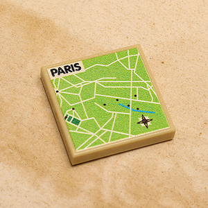 Custom LEGO Paris, France Map (2x2 Tile)