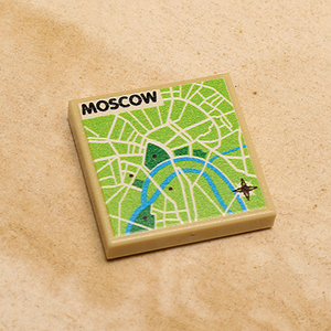 Custom LEGO Moscow, Russia Map (2x2 Tile)