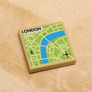 Custom LEGO London, England Map (2x2 Tile)