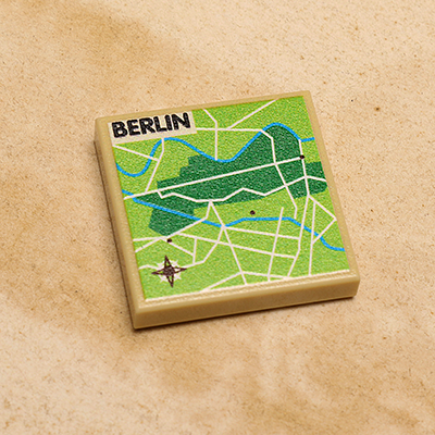 Custom LEGO Berlin, Germany Map (2x2 Tile)