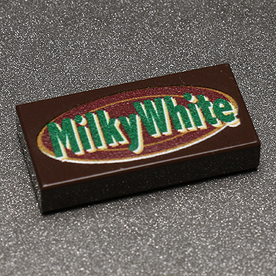 Milky White - Custom Printed LEGO 1x2 Tile