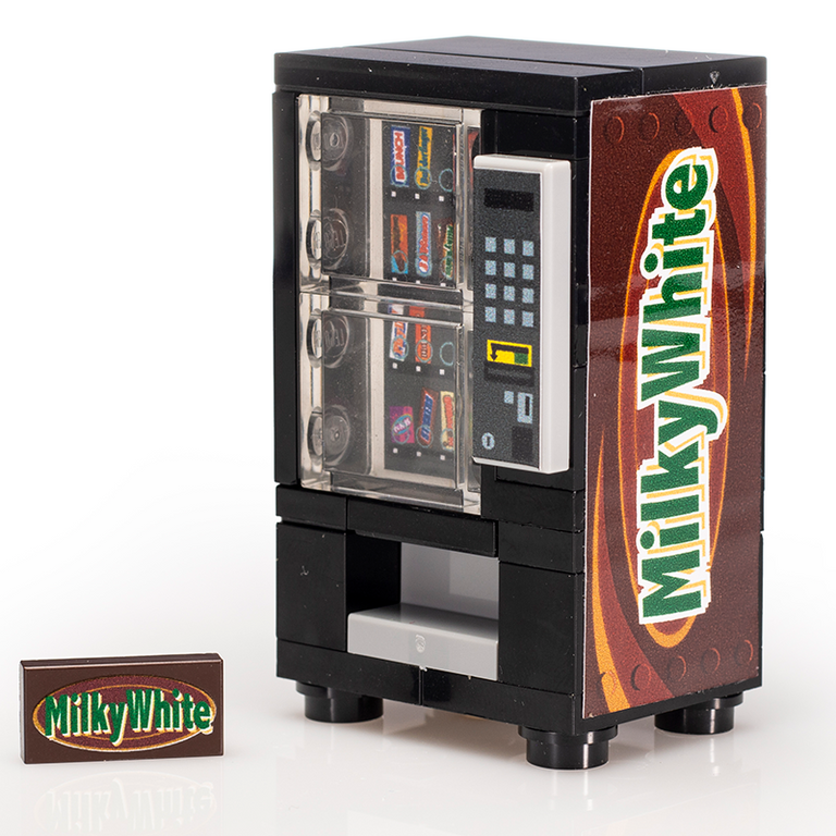 Custom LEGO Milky White Candy Bar Vending Machine