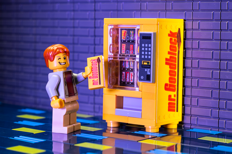 Custom LEGO Mr. Goodblock Candy Vending Machine