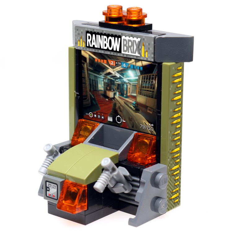 Custom LEGO Rainbow Brix Shooter Arcade Game