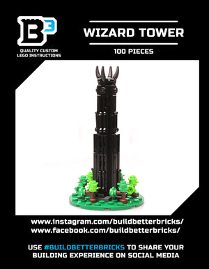 Micro Tower of Orthanc - Custom LEGO Lord of the Rings Tower Building Set