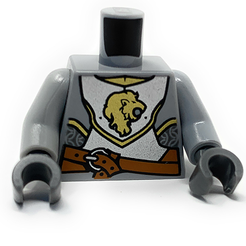 LEGO Lion Knight Minifigure Torso (Grey/Silver)