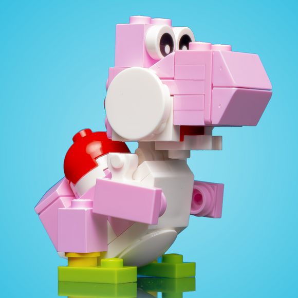 Friendly Pink Dino - Custom LEGO Set