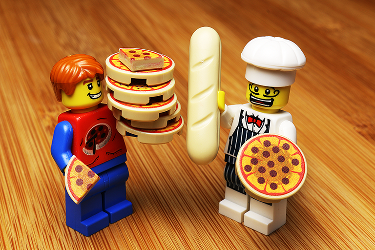 Custom LEGO Pizza Pack