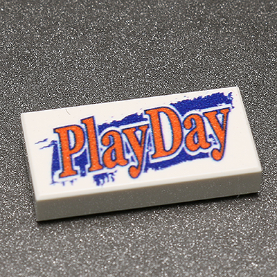 Play Day - Custom Printed LEGO 1x2 Tile