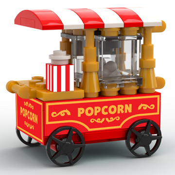 Custom LEGO Popcorn Vending Cart