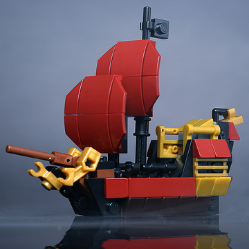 Custom LEGO Mini Queen Anne's Revenge Pirate Ship