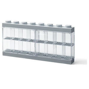 LEGO Gray 16-Piece Minifigure Display Case