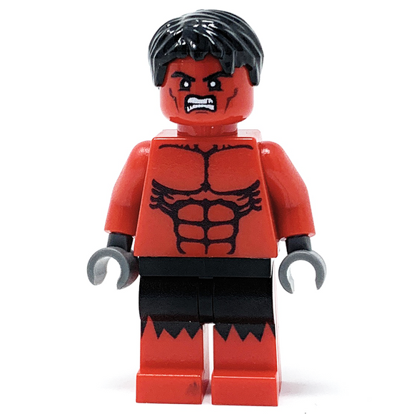 Big Red - Custom LEGO Minifigure w/ Display Case