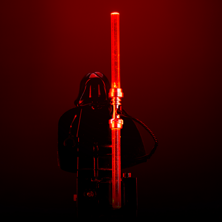 Light-Up Minifigure Lightsaber (Double-Bladed Red)