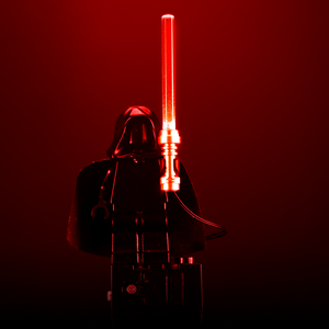 Light-Up Minifigure Lightsaber (Red)