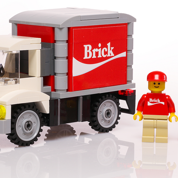 Custom LEGO Brick Soda Vending Truck with Minifigure