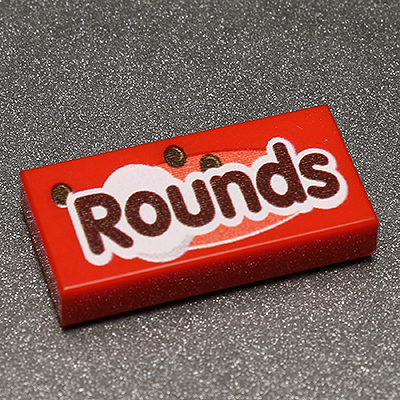 Rounds - Custom Printed LEGO 1x2 Tile