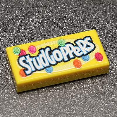 Studgoppers - Custom Printed LEGO 1x2 Tile
