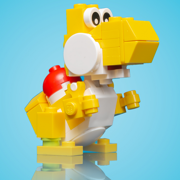 Friendly Yellow Dino - Custom LEGO Set