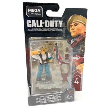 WWII Resistance Fighter - Mega Construx Call of Duty Specialist Series 4 Figure Pack