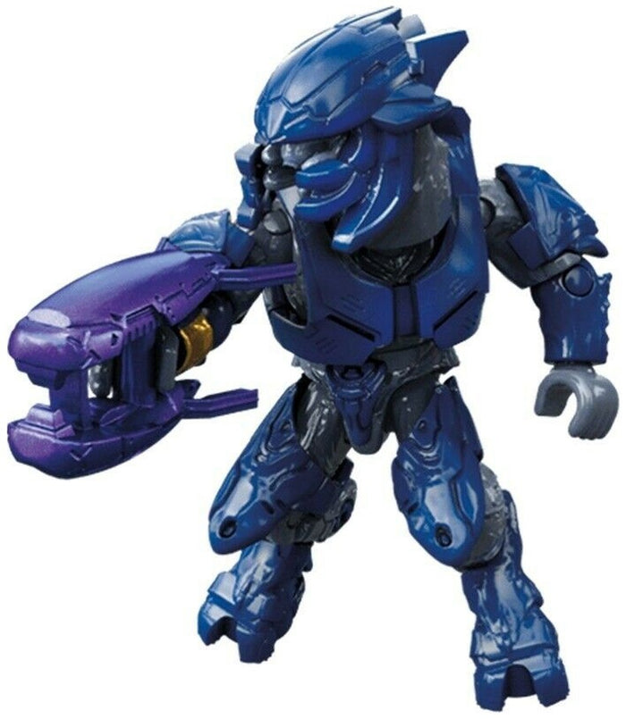 Covenant Elite Minor (Blue Armor) - Mega Construx Halo Micro Figure (Clash on the Ring)