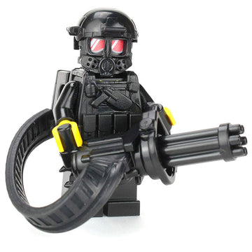 Heavy Gunner Minigun Soldier - Custom LEGO Military Minifigure