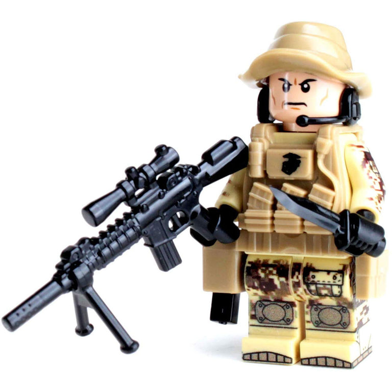 Marine Force Recon Sniper - Custom LEGO Military Minifigure