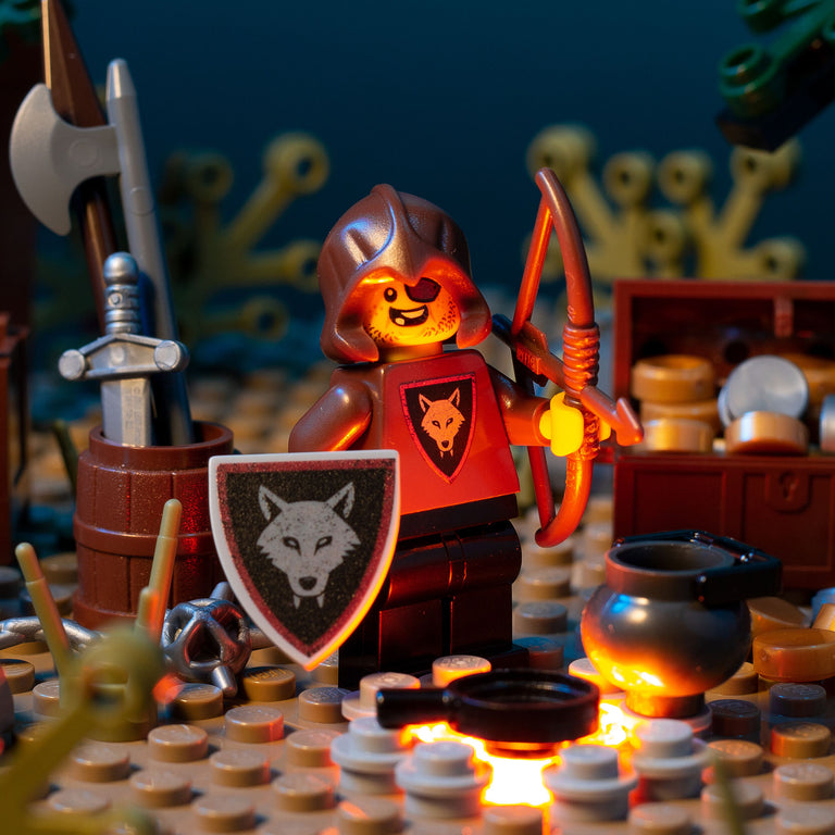 Wolfpack Bandit (Bow & Arrow) - Custom LEGO Castle Minifigure