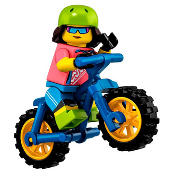 Mountain Bike (Female) - LEGO Series 19 Collectible Minifigure