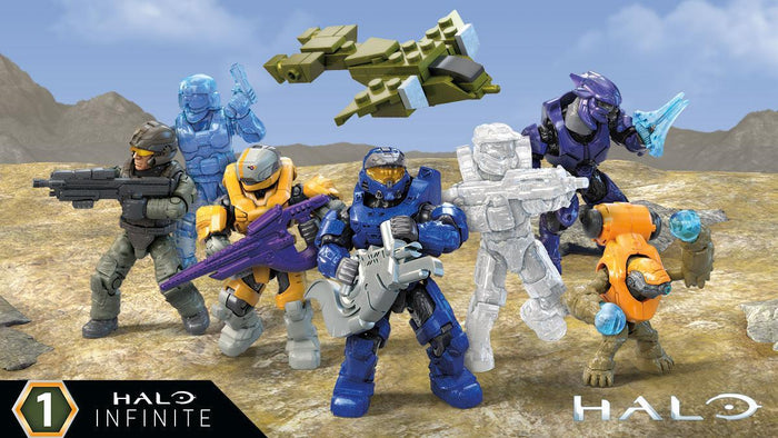 Complete Set of 8 - Mega Construx Halo Micro Figure, Infinite Series 1 (2020)